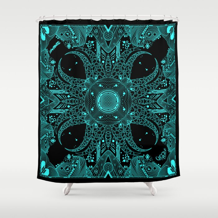 Tentacle Void Shower Curtain By Matikdesign