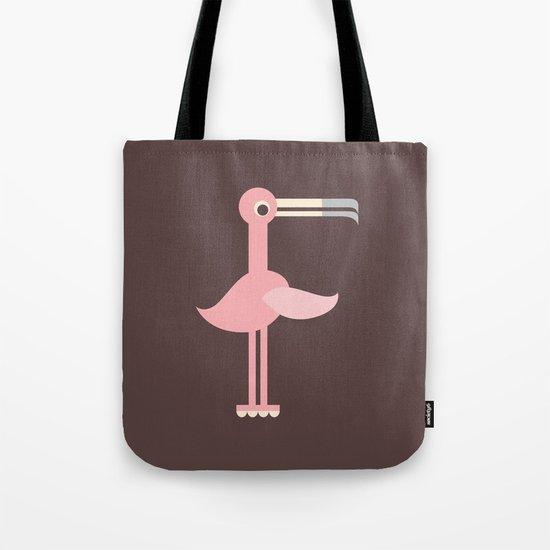 Letter F // Animal Alphabet // Flamingo Monogram Tote Bag