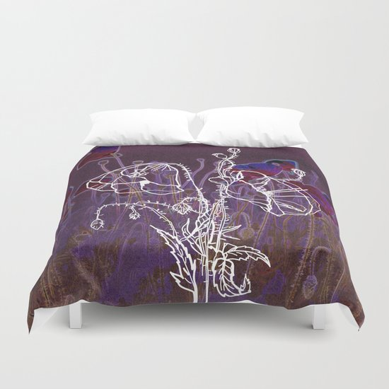 Popy variation 4th Duvet Cover