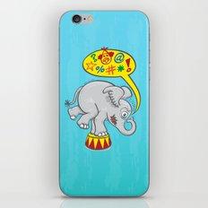 Circus elephant saying bad words iPhone & iPod Skin