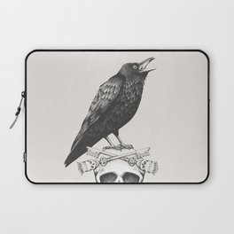 Black Crow & Skull Laptop Sleeve