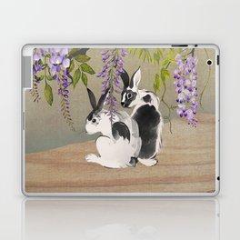 Two Rabbits Under Wisteria Tree Laptop & iPad Skin