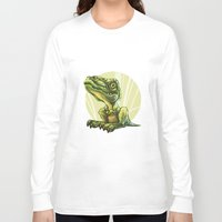 dinosaur Long Sleeve T-shirts featuring Dinosaur by SansArt