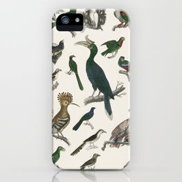 The History of the Earth and Animated Nature by Oliver Goldsmith (1774), a rare antique handcolored iPhone Case