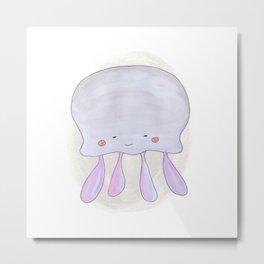 Animal Tales - Jellyfish in watercolor Metal Print
