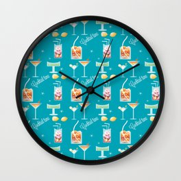 Cocktail Time Wall Clock