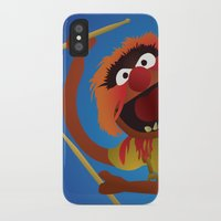 muppets iPhone & iPod Cases featuring Animal - Muppets Collection by Bryan Vogel