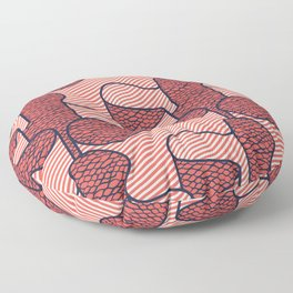 Ribbon in Red Floor Pillow