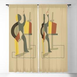Exhibition cubist paintings Blackout Curtain