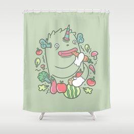 healthy monster Shower Curtain