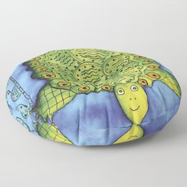 Patterned Turtle Floor Pillow