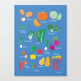 What's in the Kitchen?  - Vegetables Canvas Print