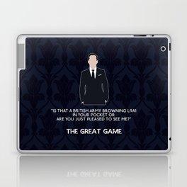 The Great Game - Jim Moriarty Laptop & iPad Skin