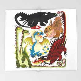 HTTYD- Dragons/Toothless and gang Throw Blanket