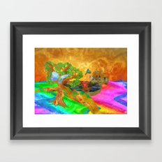 Let color bring you smiles as you walk lifes many miles Framed Art Print