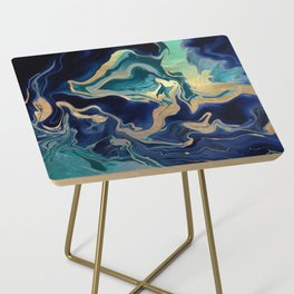 DRAMAQUEEN - GOLD INDIGO MARBLE Side Table