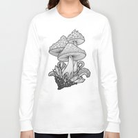 mushrooms Long Sleeve T-shirts featuring Mushrooms by Sushibird