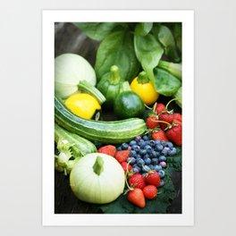 Summer Garden Harvest Art Print