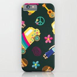 Hippie Neck Gator Flower Child Hippies Neck Gator iPhone Case