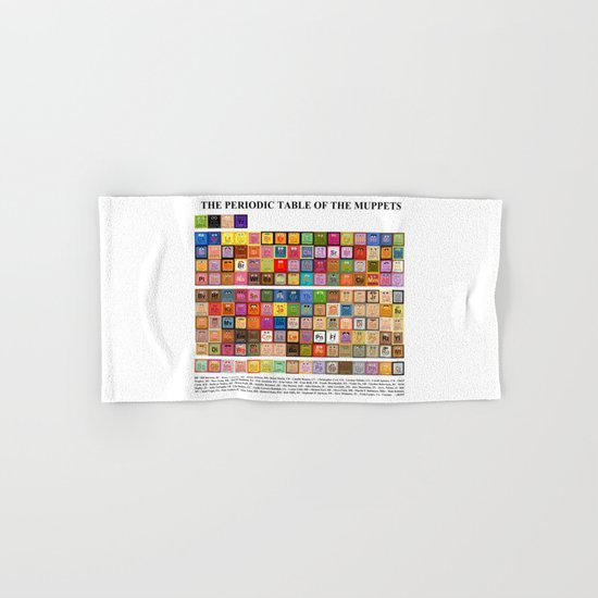 The Periodic Table of the Muppets Hand & Bath Towel