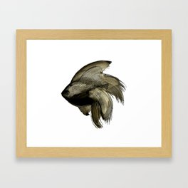 Deep water Fish Framed Art Print