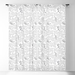 Leaf pattern Blackout Curtain