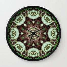 Botanical mandala - Begonia rex Escargot Wall Clock