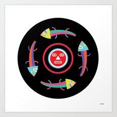 Circles of Gators Art Print