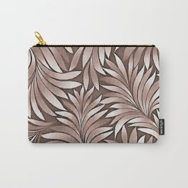 Stylish Leaves In Boysenberry Hues Carry-All Pouch