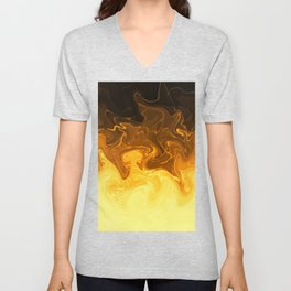 Smokey Swirling Yellow Unisex V-Neck