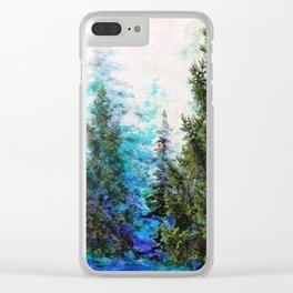 BLUE MOUNTAIN PINE FOREST  VISTA Clear iPhone Case