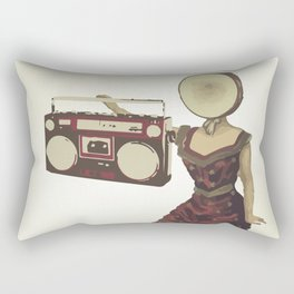 Neutral Milk Boombox Rectangular Pillow