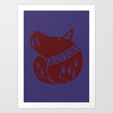 The Boar's Sin of Gluttony Art Print