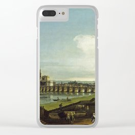 Bernardo Bellotto - View Of Dresden With The Frauenkirche At Left Clear iPhone Case