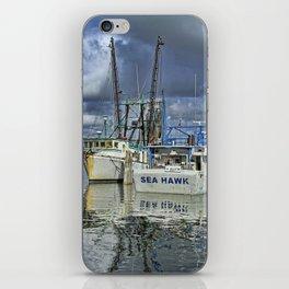 Sea Hawk Under Cloud Cover iPhone Skin