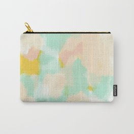 Sammy - Soft green Abstract Digital Painting Carry-All Pouch