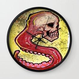 Tentacle Skull Wall Clock