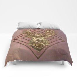 Rosegold deer Comforters