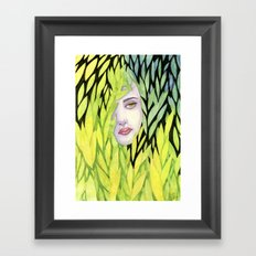 Botanical cage Framed Art Print