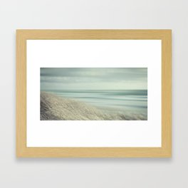 Deep in contemplation  - Winter Baltic Sea Serie Framed Art Print