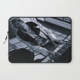 Blues Man With Piano Laptop Sleeve