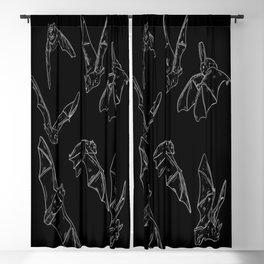 Flying Bats Pattern Blackout Curtain