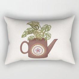 Monstera Teapot Rectangular Pillow
