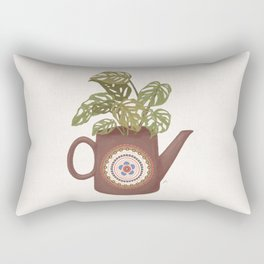 Monstera Teapot Rectangular Pillow