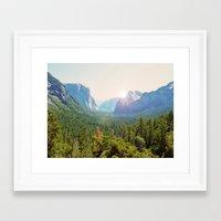 yosemite Framed Art Prints featuring Yosemite by Chelem