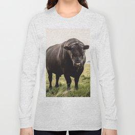 Big Black Angus Bull Long Sleeve T-shirt