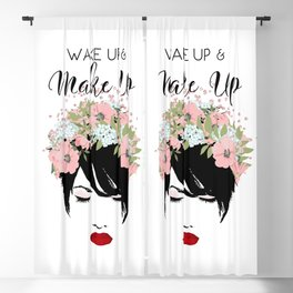 Wake Up and Make Up Glamour Blackout Curtain