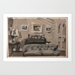 I Love Lucy- the Ricardo's first apartment Art Print