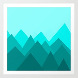 Simple Montains Art Print