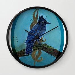 Stellar's Jay - Cletus Sings the Blues Wall Clock